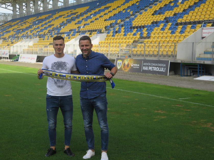 Marius Chindris prezentat de Cristi Vlad, FC Petrolul Facebook Official
