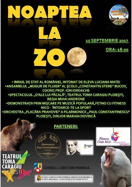 15 septembrie – Noaptea la Zoo Bucov