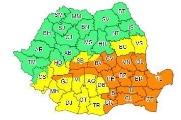 Prahova – sub cod portocaliu de vreme rea. Peste 200 de pompieri pregătiţi de intervenţie
