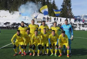 """Victorie a """"lupilor"""", într-un decor de vis. FC Petrolul a câștigat primul meci-test din cantonamentul montan"""