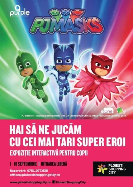 """""""Eroii în Pijama"""" îi cheamă pe toți copiii la distracție în Ploiești Shopping City"""