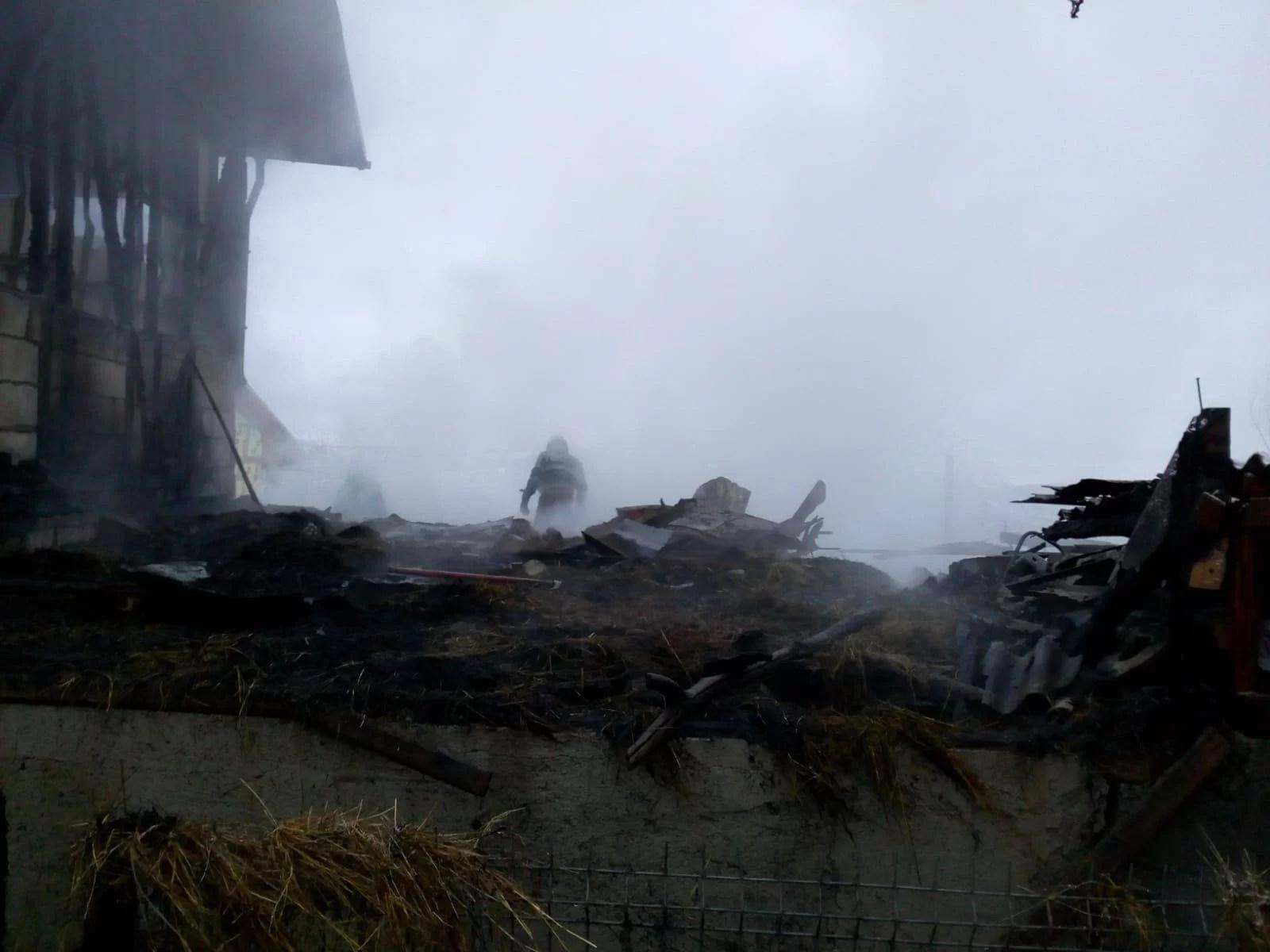 Bărbat cu probleme locomotorii, mort în incendiu într-o comună prahoveană