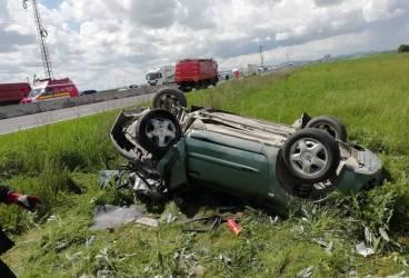 Nou accident cu maşini răsturnate pe DN1 (imagini)