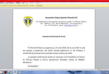 """FC Petrolul își va prezenta joi, 13 iunie 2019, noul președinte executiv ales. """"Vacanța informațională oficială"""" a luat sfârșit!"""