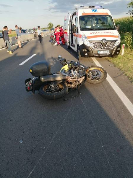 Motociclist accidentat pe DN1, la Movila Vulpii