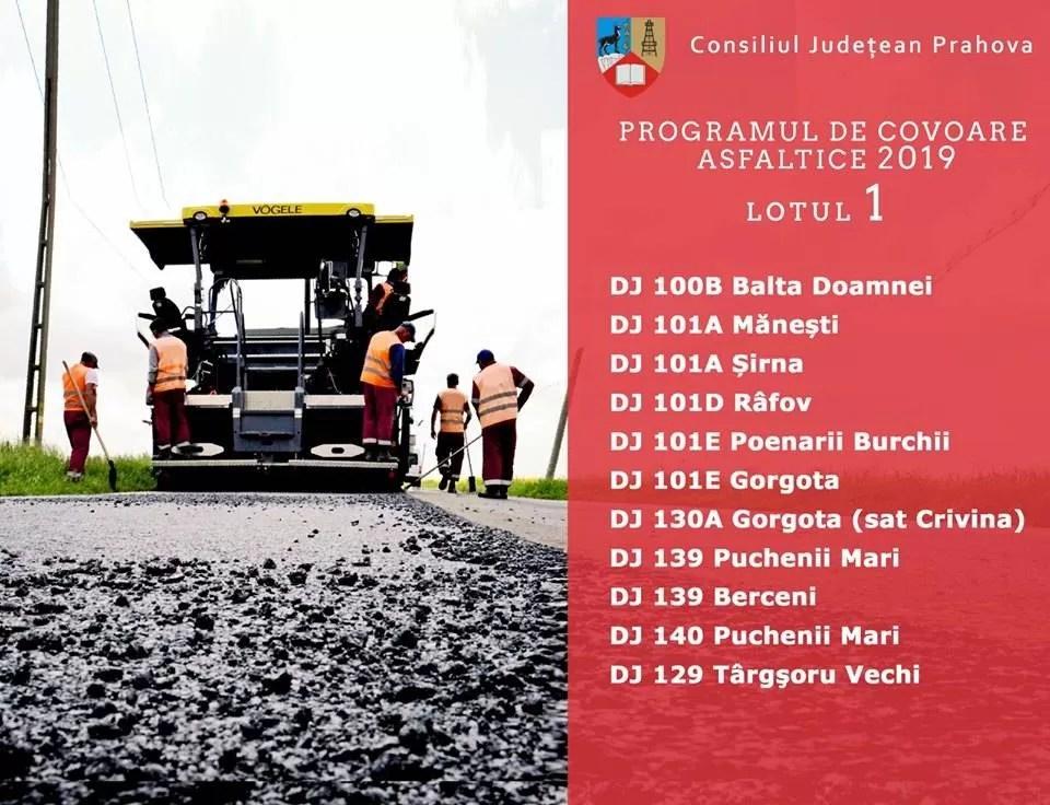 58 drumuri judeţene, în programul de asfaltare al CJ Prahova