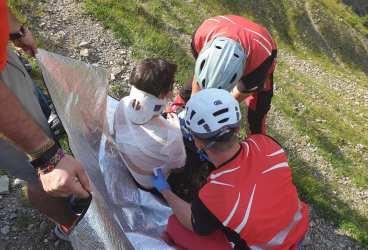 Accident în munţii Baiului