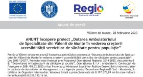 Dotarea Ambulatoriului de Specialitate din Vălenii de Munte în vederea creșterii accesibilității serviciilor de sănătate pentru populație