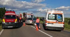 Imagini de la accidentul din această seară, de la Loloiasca