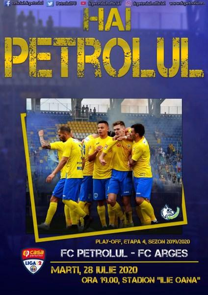 """Începe în curând cea mai importantă """"finală"""" pentru FC Petrolul din faza play-off-ului! Numai un succes în dauna Argeșului mai păstrează visul promovării """"lupilor""""!"""