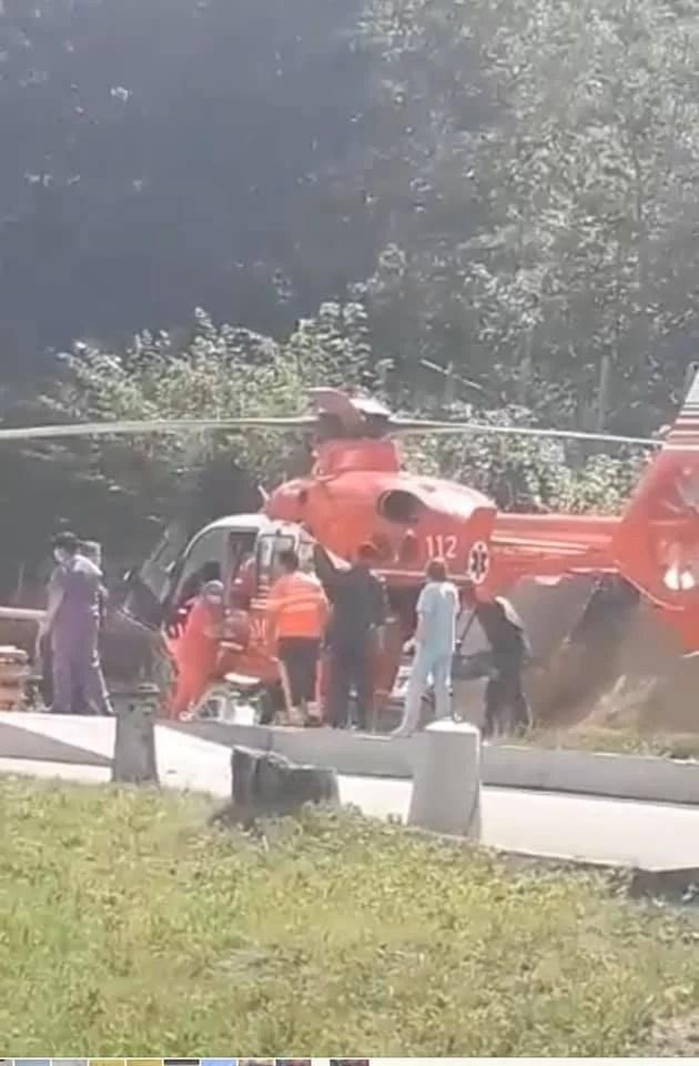 Elicopterul SMURD a preluat de la Sinaia un copil accidentat pe motocicletă