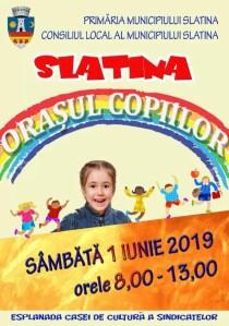 De 1 iunie, Slatina devine orășelul copiilor