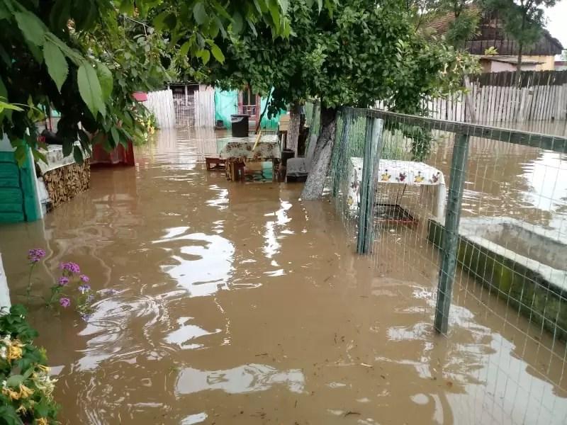 zeci de gospodarii inundate