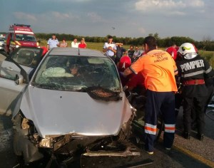 Accident rutier grav la Dăneasa