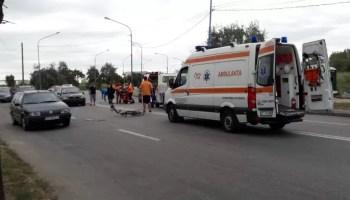 accident_biciclist_pirelli Șapte mașini avariate de un TIR