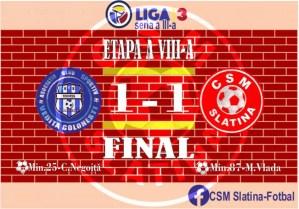 Vediţa Coloneşti – CSM Slatina 1-1 (1-0)