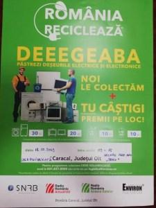 Caracal: Campanie de colectare a deșeurilor de echipamente electrice și electronice și a bateriilor uzate