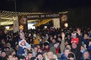 Luminițele de sărbători s-au aprins în Slatina. Târgul de Crăciun, pregătit cu multe surprize pentru vizitatori