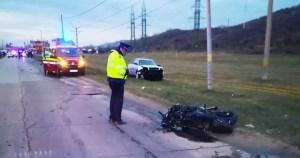 Motociclistul rănit la Curtișoara a fost transferat la un spital din București