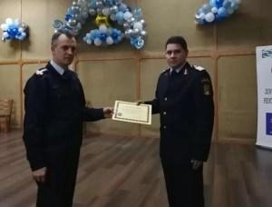 Pompieri olteni, recompensaţi pentru modul exemplar de operaţiune