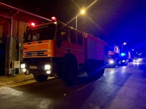 Incendiu puternic într-o localitate din Olt