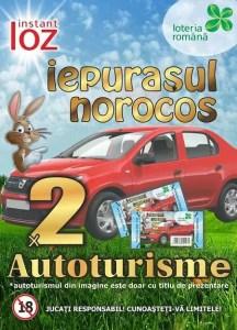 Loteria Română lansează lozul ''Iepuraşul Norocos'', cu premii de peste 1,1 milioane de lei şi două autoturisme