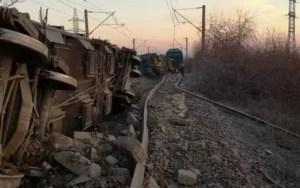 Traficul feroviar după deraierea unui mărfar