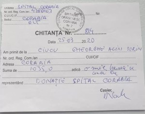 Sorin George Ciucu a donat indemnizaţia de consilier judeţean Spitalului Corabia