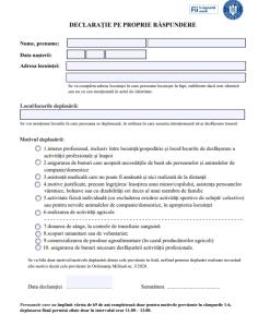 Formularul de declarație pe proprie răspundere a fost modificat! Unde îl găsiți