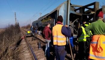 trafic-feroviar-reluat Accident feroviar, 15 vagoane ale unui tren au deraiat