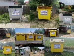 A început distribuirea containerelor în toate satele din comuna Brâncoveni
