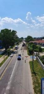 Se lucrează pe strada Pitești