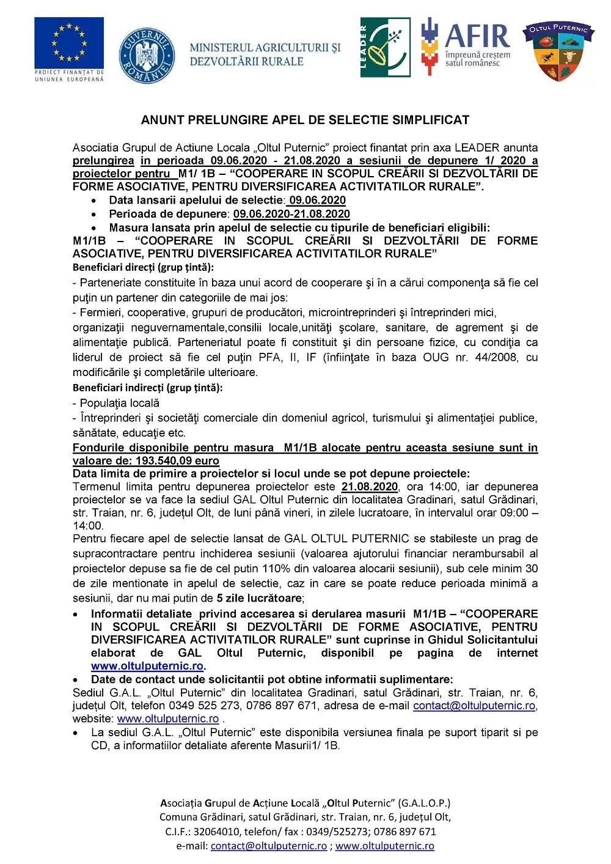 0.1. Anunt_privind_ prelungire apel_de_selectie_simplificat_M1 APEL 1.2020