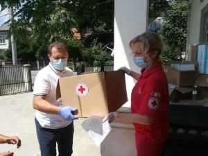 Crucea Roșie Olt: Materiale de protecție pentru Spitalul Județean de Urgență Slatina
