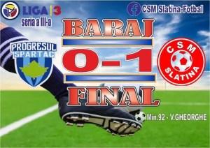 Fotbal: Victorie pentru CSM Slatina