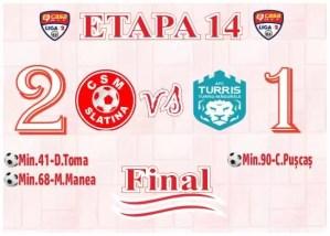 Moment de râsu plânsu, în finalul primei reprize a meciului dintre Slatina și Turris, din liga a 2-a