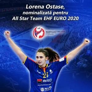 Lorena Ostase, singura handbalistă tricoloră nominalizată la All Star Team
