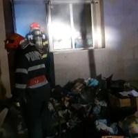 Marfa unui magazin a fost mistuită de un incendiu