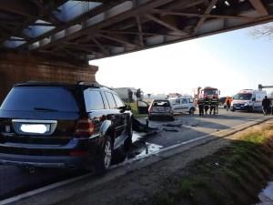 Accident în lanț la intrare în Caracal. 9 persoane implicate în accidentul rutier