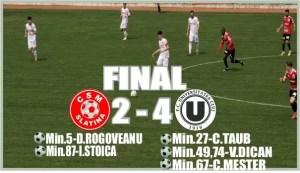 Liga 2, play-out, etapa 1 | CSM Slatina - U Cluj 2-4