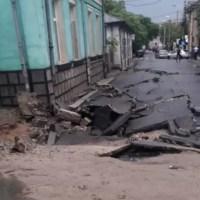 O ploaie torențială a făcut dezastru în Craiova: o stradă s-a surpat, iar în centrul orașului, apa a depășit un metru