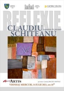 """Expoziția de pictură """"REFLEXIE"""" a artistului plastic Claudiu SCHITEANU, la Slatina"""
