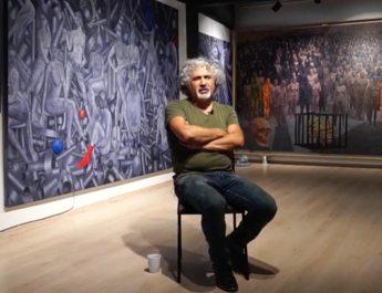 Ressam Haydar Ekinek: 'Siyasal İslamcılık ve milliyetçiliğin yükseldiği toplumlarda sanat yapılamaz'