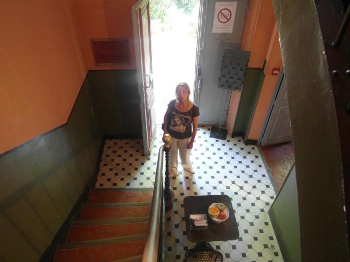 Intrarea în atelierul lui Cezanne din Aix-en-Provence.