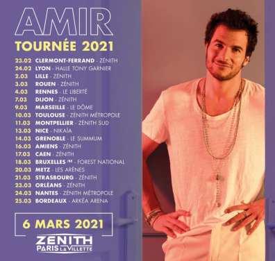 Amir repart en tournée 2021