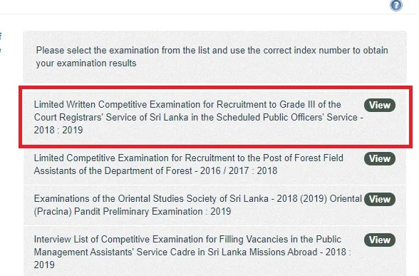 Court Registrars Service Exam Results 2018 2019