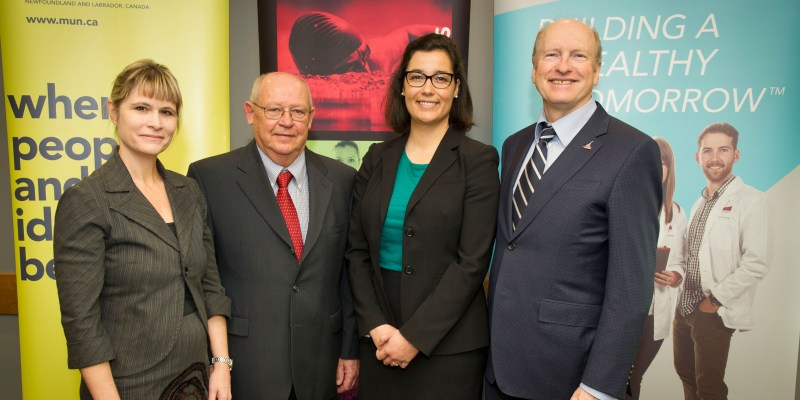 From left are Dr. Heather Carnahan, Dr. Drew Potter, Dr. Diana De Carvalho and Dr. James Rourke. HSIMS photo