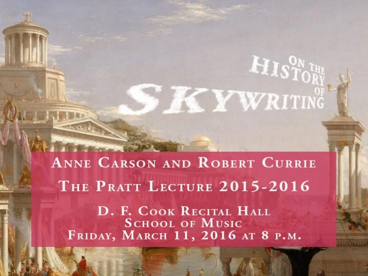 Anne Carson delivers Pratt Lecture