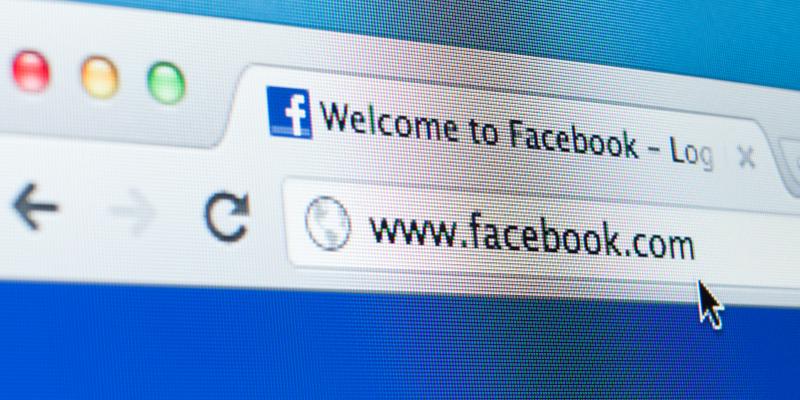 Image of Facebook web address