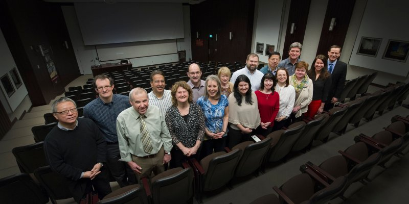 Members of the Engineering Co-operative Education team with Dr. Greg Naterer, dean, Engineering and Applied Science